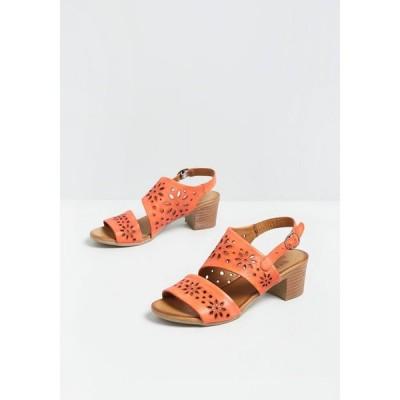 レディース サンダル・ミュール シューズ・靴 coral of the story leather sandal coral