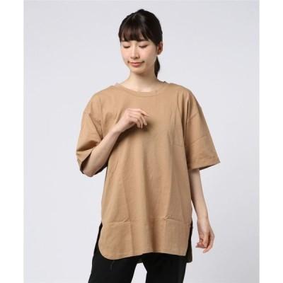 tシャツ Tシャツ コットンバックヘンリーチュニック