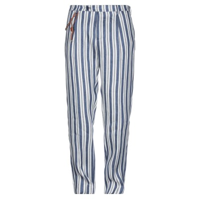 ベルウィッチ BERWICH パンツ ブルー 52 リネン 100% パンツ