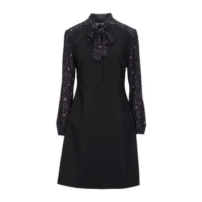 ANNARITA N TWENTY 4H ミニワンピース&ドレス ブラック 42 ポリエステル 100% / ポリウレタン / コットン ミニワンピ
