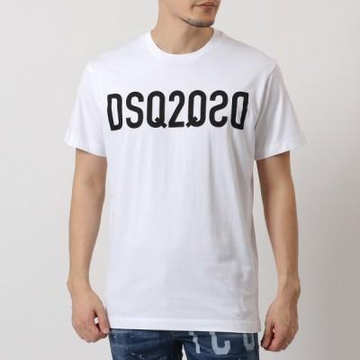 DSQUARED2 ディースクエアード S74GD0787 S22844 DSQ2 T-Shirt 半袖 Tシャツ カットソー クルーネック ロゴT コットン 100 メンズ