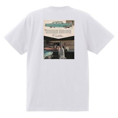 アドバタイジング キャデラック Tシャツ 白 964 黒地へ変更可 1956 オールディーズ ロック 1950's 1960's ロカビリー ホットロッド