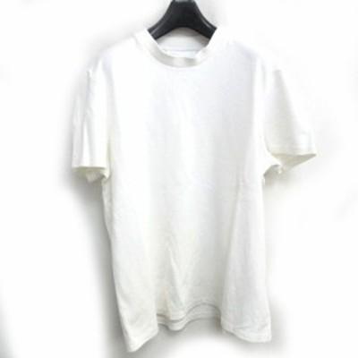 【中古】ニールバレット Neil Barrett カットソー Tシャツ 半袖 無地 ワンポイント PBJE650-2556 ホワイト 白 L 0214