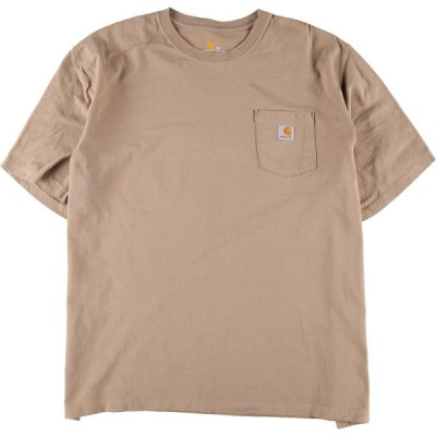 ビッグサイズ カーハート Carhartt ワンポイントロゴポケットTシャツ メンズ4L /eaa078457