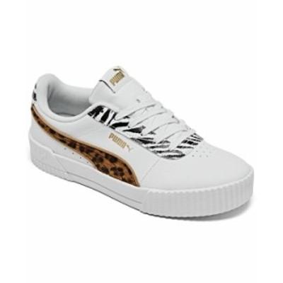 プーマ レディース スニーカー シューズ Women's Carina Animal Mix Platform Casual Sneakers from Finish Line White Animal