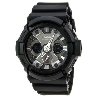 カシオ 腕時計 Casio GA201-1A メンズ G-Shock Ana-Digi Dial Alarm World Timer Black Resin Watch