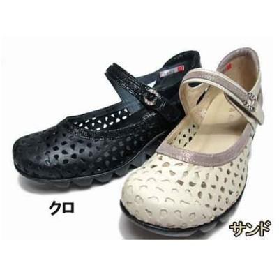 ドナミス  Dona Miss パンチングデザインベルクロパンプス レディース・靴
