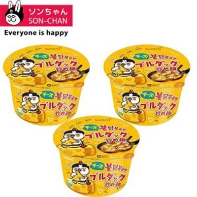 チーズブルダック炒め麺ビックカップ 105g×3個 韓国ラーメン/韓国食品/インスタントラーメン/ブルダック/激辛