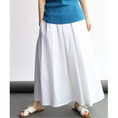 【イエナ】 サッカーギャザーデザインスカート◆ レディース ホワイト 38 IENA