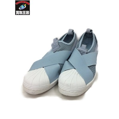 adidas originals アディダスオリジナルス SUPERSTAR SLIPON W 27.5 水色[▼]
