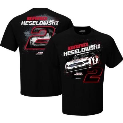 ユニセックス スポーツリーグ モータースポーツ Brad Keselowski Team Penske Contender T-Shirt - Black