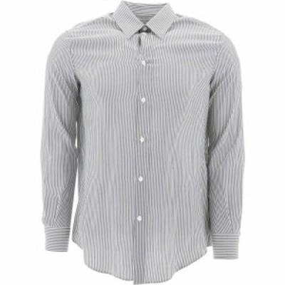 セリーヌ Celine メンズ シャツ トップス Striped Silk Shirt White