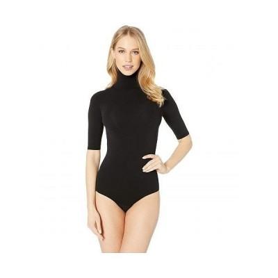 Commando コマンドー レディース 女性用 ファッション トップス Ballet Short Sleeve Turtleneck Thong Bodysuit KT036 - Black