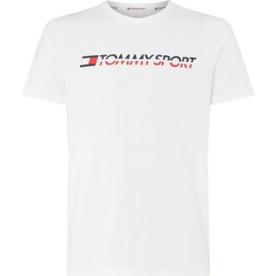 トミーヒルフィガー Tommy Sport メンズ Tシャツ ロゴTシャツ トップス Sport Logo T Shirt PVHWhite
