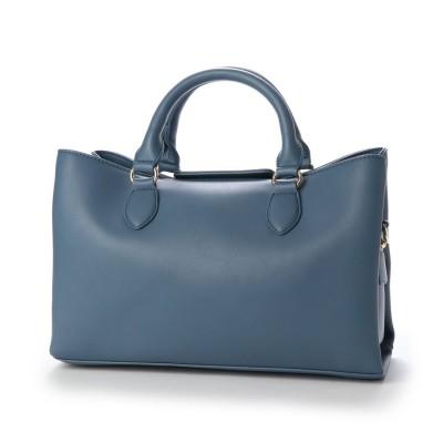 ヴィータフェリーチェ VitaFelice ハンドバッグ レディースバッグ フォーマルバッグ ミニトートバッグ 仕事バッグ (BLUE)