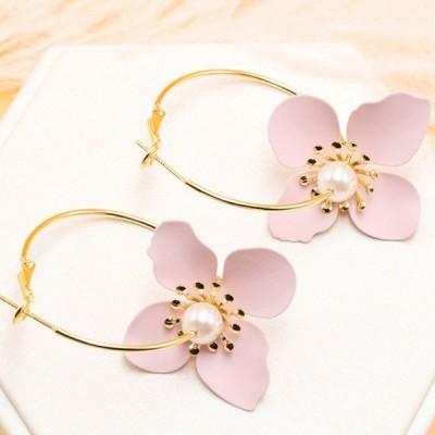 ピアス レディース 花 フラワー ファッション 2WAY 可愛い シルバー925 金属アレルギー対策