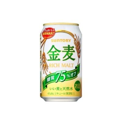 【送料無料】サントリー 新ジャンル・第3ビール 金麦 糖質75%オフ 350ml 24缶入 1ケース(24本) 1ケース1個口発送