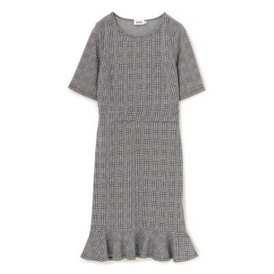 EPOCA THE SHOP(エポカザショップ)/【LEOTA】モノトーンチェックドレス