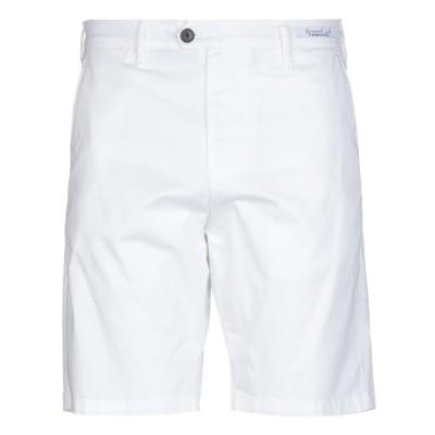 PERFECTION バミューダパンツ ホワイト 48 コットン 97% / ポリウレタン 3% バミューダパンツ