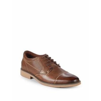 スティーブ マッデン メンズ シューズ オックスフォード 革靴 P-Share Leather Captoe Blucher Shoes
