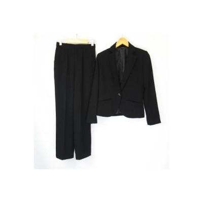 【中古】モンサンミッシェル  MONSAN MICHELLE 3点セット スカート パンツスーツ 黒 ブラック 7AR 61-89 レディース 【ベクトル 古着】