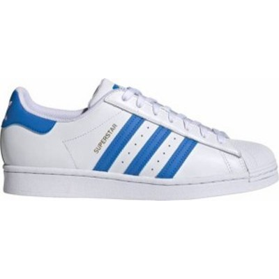 アディダス メンズ スニーカー シューズ adidas Originals Men's Superstar Shoes White/True Blue/Gold