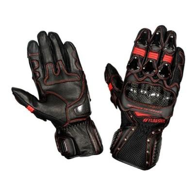 FG-S195G FLAG SHIP Vertex Metal Glove / ヴァーテックスメタルグローブ ブラック/レッド M〜3Lサイズ