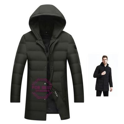 ダウンコート メンズ ビジネス キルティングコート ロングコート 厚手 暖かい 高品質 大きいサイズ 防寒 防風 秋冬