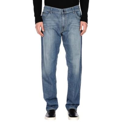 YOOX - CALVIN KLEIN JEANS ジーンズ ブルー 30W-34L コットン 98% / ポリウレタン 2% ジーンズ