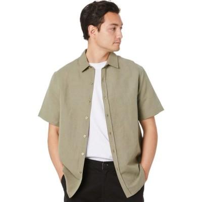 スウェル Swell メンズ ポロシャツ トップス manila ss linen shirt Chive