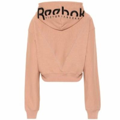 リーボック Reebok x Victoria Beckham レディース パーカー トップス Cropped cotton hoodie