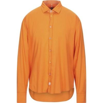 パナマ PANAMA メンズ シャツ トップス solid color shirt Orange
