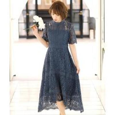 PourVous(プールヴー)フィッシュテール オールレース ドレス【お取り寄せ商品】