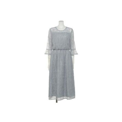【Rewde】レースフレア袖ドレス(0R04-D140) (グレー)