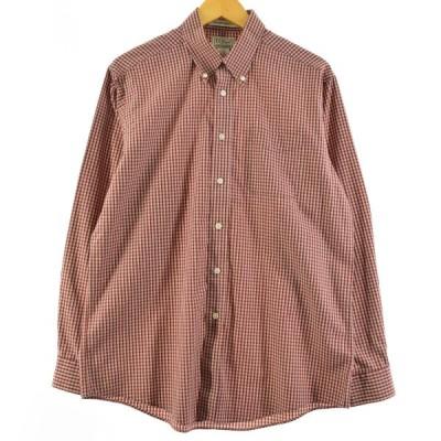 エルエルビーン L.L.Bean 長袖 ボタンダウンチェックシャツ メンズM /eaa162188
