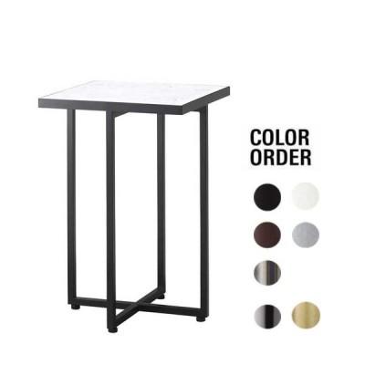 サイドテーブル ホワイト人口大理石 40×40×60cm 業務用店舗家具 tfg346-1h600