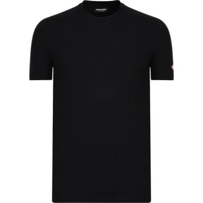 ディースクエアード DSQUARED2 メンズ Tシャツ ロゴTシャツ トップス Maple Arm Logo T Shirt Black