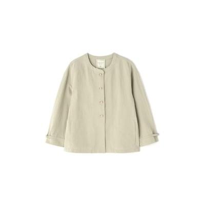 【ヒューマンウーマン】 ≪Japan couture≫綿麻ギャバブラウス レディース Lカーキ M HUMAN WOMAN