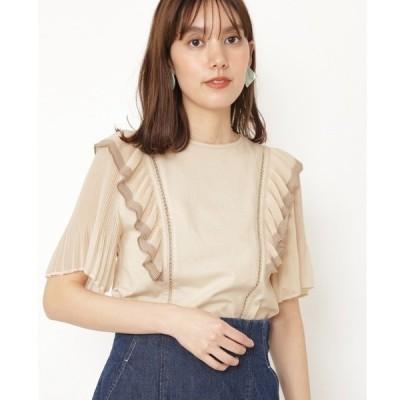 tシャツ Tシャツ ファビプリーツカットソー