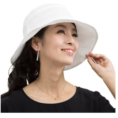 「春夏 洗える楊柳おでかけ帽子 全2色 ハット レディース 婦人 ミセス シニア 小さくたためる 折り畳み サマー」 p16999