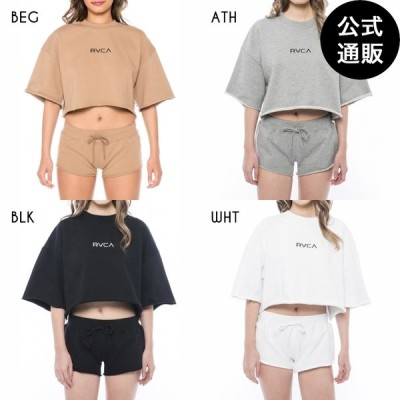 OUTLET 2019 RVCA ルーカ レディース SMALL 2019 RVCA ルーカ CREW SS セットアップトップス 全4色 XS/S rvca