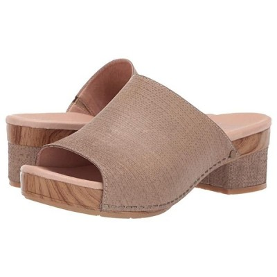 Dansko Maci レディース ヒール パンプス Taupe Textured Leather