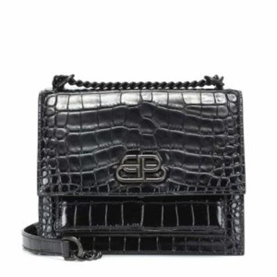 バレンシアガ Balenciaga レディース ショルダーバッグ バッグ Sharp S leather shoulder bag Black