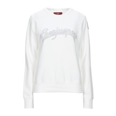 PARAJUMPERS スウェットシャツ ホワイト XL コットン 92% / ポリウレタン 8% スウェットシャツ