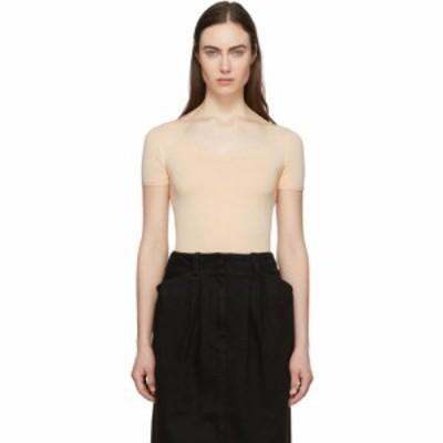 ルメール Lemaire レディース ニット・セーター トップス Pink Second Skin Short Sleeve Pullover Nude