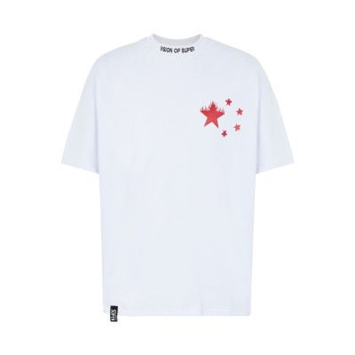 VISION OF SUPER T シャツ ホワイト S コットン 100% T シャツ
