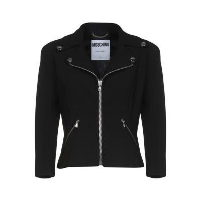 モスキーノ MOSCHINO テーラードジャケット ブラック 42 トリアセテート 64% / ポリエステル 36% テーラードジャケット