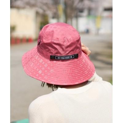 Daily russet / 【UVカット】ナイロンジャガード ハット WOMEN 帽子 > ハット