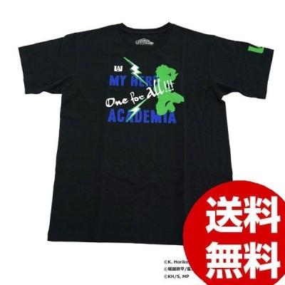 Tシャツ 男女兼用 僕のヒーローアカデミア Tシャツ 緑谷出久 シルエット X513-822 040 ブラック S