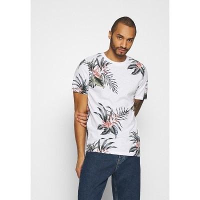 ジャック アンド ジョーンズ Tシャツ メンズ トップス JPRHOLIDAY TEE CREW NECK - Print T-shirt - white